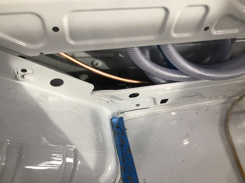 Entry point for water heater line