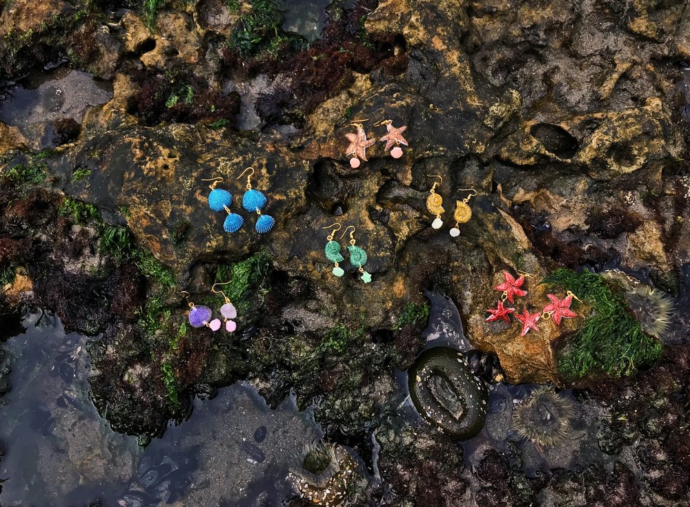 The Tide Pool Collection, handmade by Lenea!