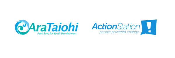 Ara Taiohi and ActionStation logos