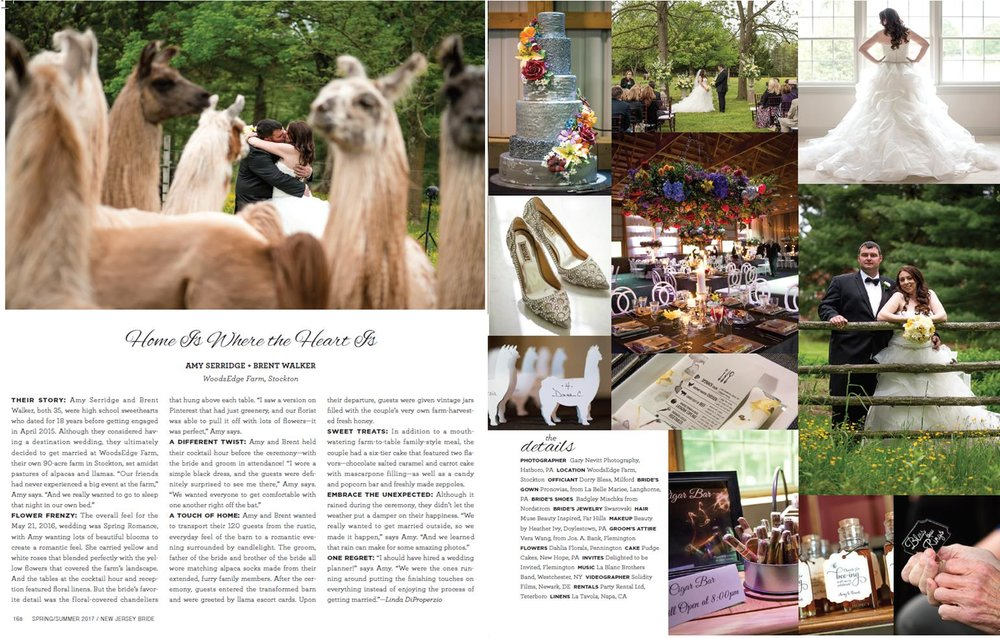Amy & Brent's Spring Wedding Featured in New Jersey Bride Magazine