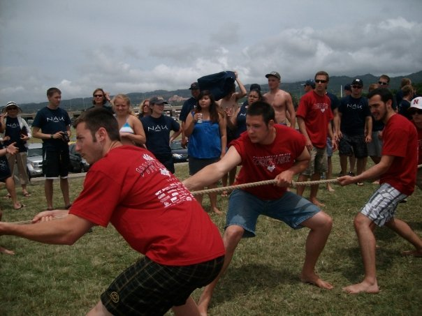 Tug of War action shot