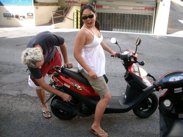 Yunling on Moped