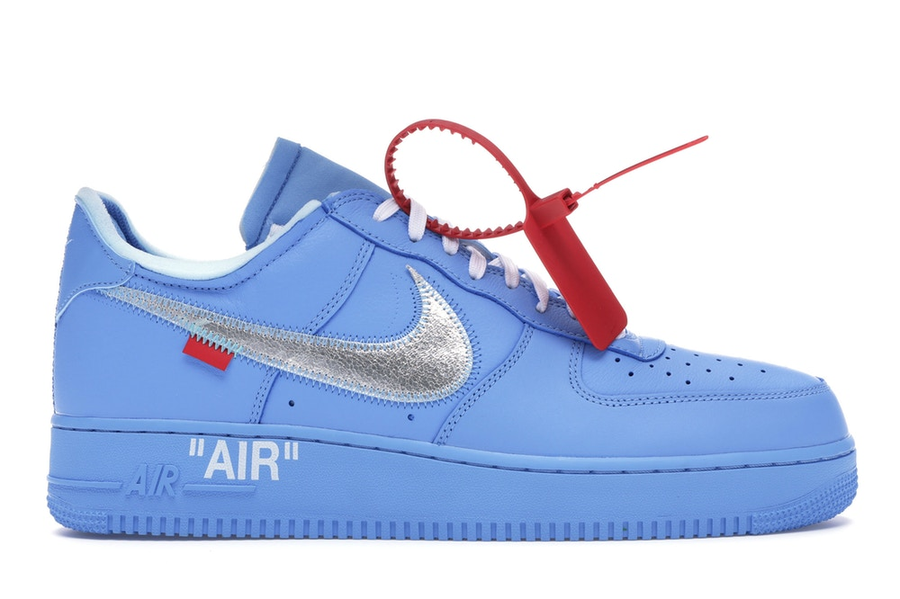 Air Force 1 Low Off-White MCA University Blue — Sneakers releases & gear |  Nike, Jordan, adidas, Yeezy | Fresh Grail