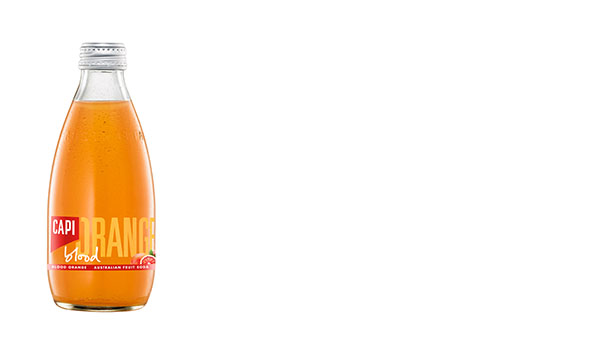 Blood Orange  Made from the best quality Sicilian Blood Oranges, this fruit soda has a fine balance of both bitter and sweet. Using nothing but the finest botanical ingredients, it tastes 100% natural and is 100% natural.   250ml  24 loose or 6x4pk  750ml  12 loose