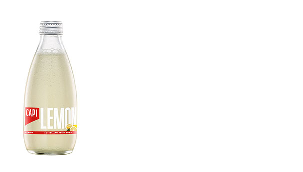 Lemon  Made from a unique blend of Argentine lemons, cold-pressed grapefruit and lemon essential oils. With a smooth lemon flavour, this natural fruit soda is not overly sweet and has a crisp, zesty finish.   250ml  24 loose