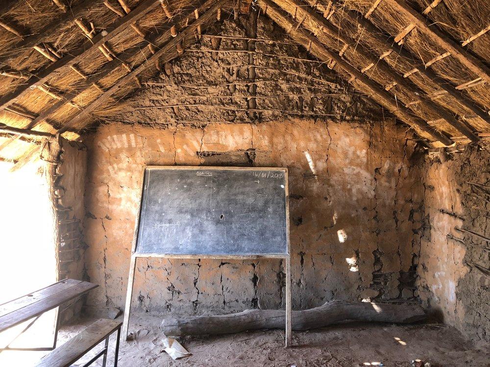 A community school classroom in Mukobela Chiefdom in Southern Province Zambia.