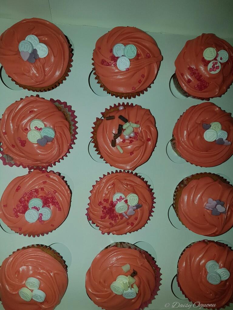 Zesty Victoria Chia cupcakes with baileys caramel buttercream.