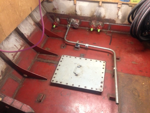 Top of Diesel Tank Before