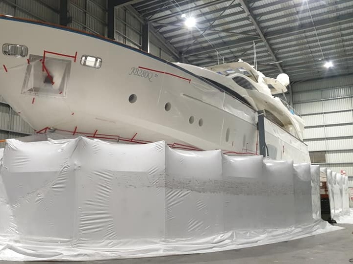Vessel Encapsulation in Super Yacht Shed