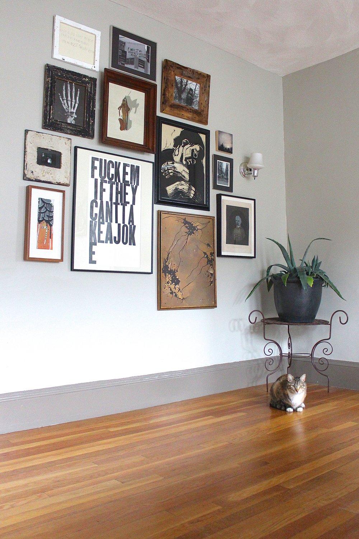 Funky dining room gallery wall .jpg