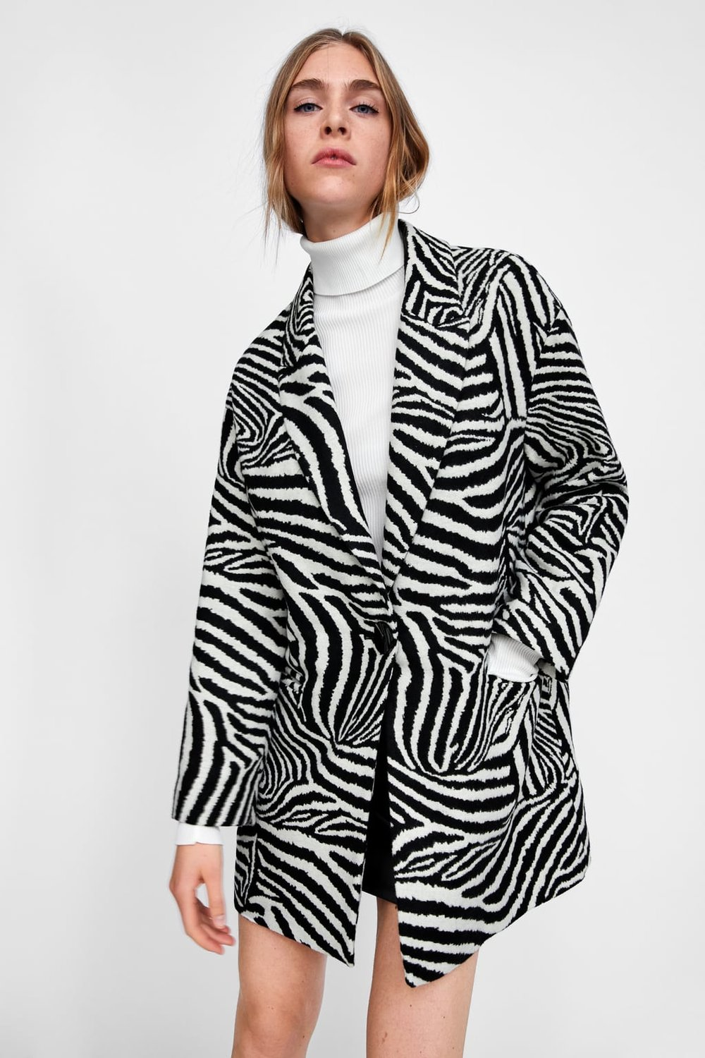 41b89b1c56d6 This Zara zebra coat is also a great versatile coat for going into spring  next year