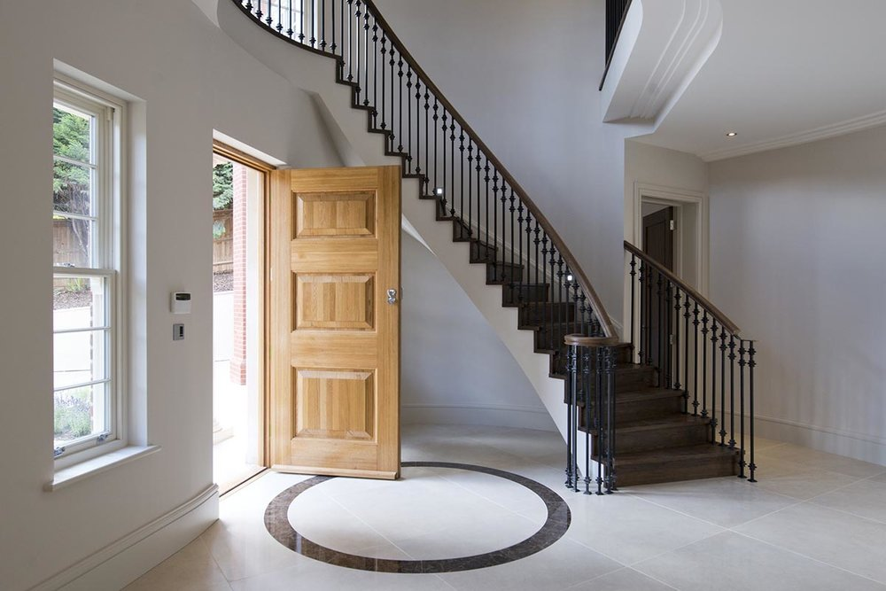 Deepdale entrance hall and staircase