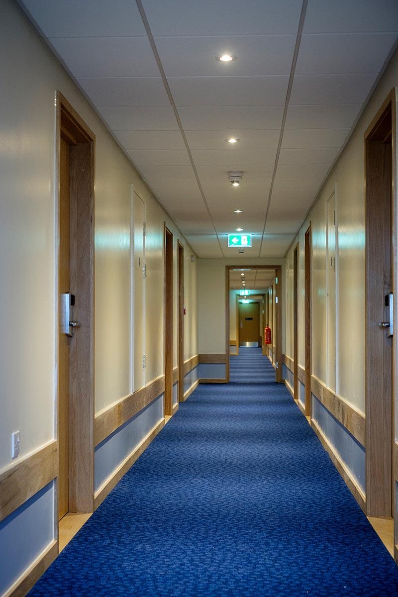 Travelodge hotel Andover bedroom hallway