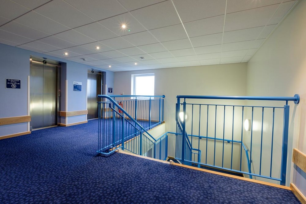 Travelodge hotel Andover lifts and staircase