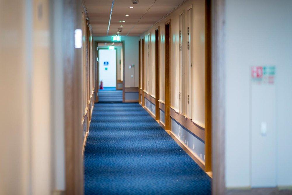 Travelodge hotel Weston-Super-Mare bedroom hallway