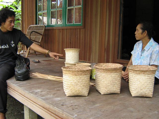 making baskets