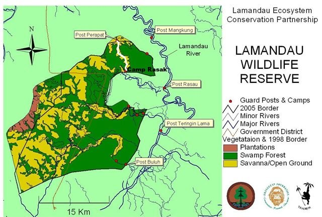 Map Lamandau