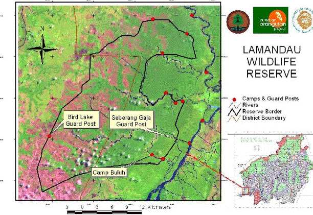 Map Lamandau Wildlife Reserve