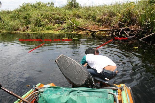 Stephen in deep water