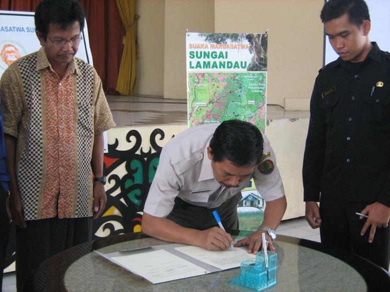 signing MOU buffer zone
