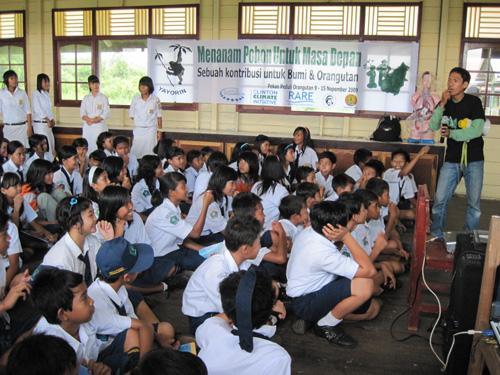 Yayasan Orangutan Indonesia - school campaign