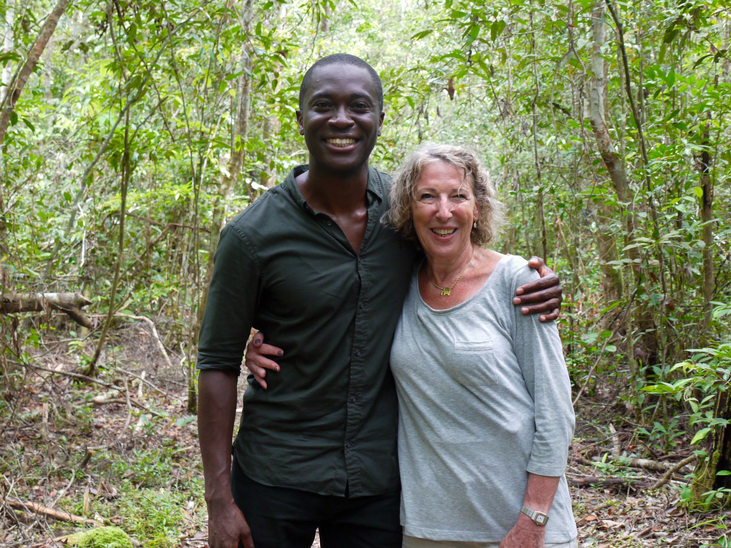 Foundation Director Ashley Leiman with Orangutan Foundation Patron Patrick Aryee.