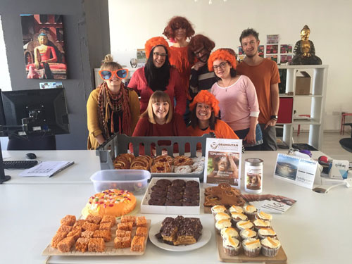 Rickshaw Travel, in Brighton, helping to raise awareness and funds on    Orange for Orangutan Day©