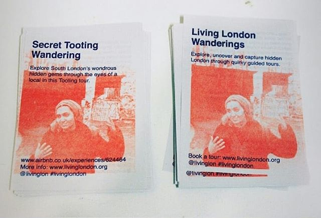 Hot off the press- new wandering tour flyers courtesy of my talented sister @sofia_niazi (& just in time for the busy season!) Thank you!! @rabbitsroadpress X #risograph #diy #design #flyers #wanderings #colour #livinglondon #print #sisterhood #hustle #thisislondon #rabbitsroadpress