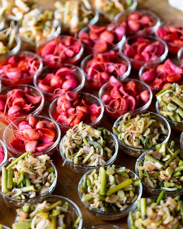 """To ferment your own food is to lodge a small but eloquent protest - on behalf of the senses and the microbes - against the homogenization of flavors and food experience"" - M. Pollen is the right guys. Exploring ways to preserve produce from local farms like @food.field.detroit @fisheyefarms @acredetroit @coriander_det @detroitmushroom and @buffalostreetfarm is a huge goal for us and we think it should be for you too! I think it's safe to say we joined the #preservationnation by showing off our #kimchichic fruits vegetables (oh, and of course, potato salad which should be eaten immediately, sans fermentation, with lots of Mayonaise and without hesitation). #respecttherot 📸: @the_gerards"