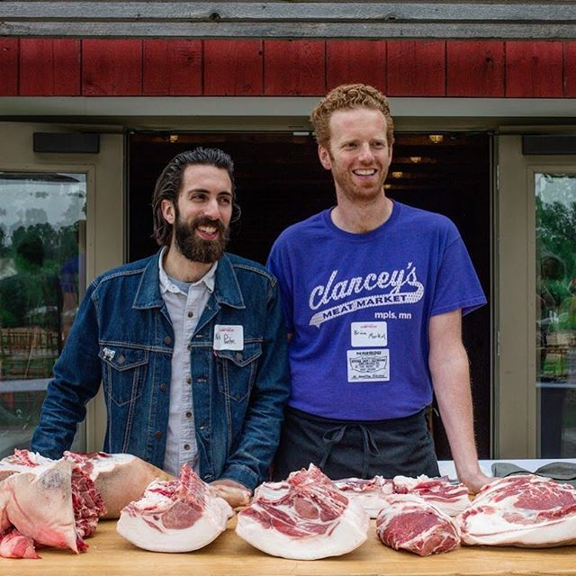 "Most of you know that @merkelations has been apart of Marrow in some capacity from the jump. Unfortunately, he cannot return full time to Detroit to be the day-to-day face of Marrow's meat counter. So, ""what's a shop to do with such large shoes to fill? Literally, his feet are humongous!"" you say? Well, allow us to introduce you to Nick Ponte. You may know him as the man behind @saltandsmokebutcher but we hope you'll soon come to know him as the newest addition to the Marrow management team! Nick will be working closely with Brian, breaking down animals, waxing poetic about pork, and assuming the role of Head Butcher! And while we can't comment on his feet quite yet, we can say with certainty that your meat is in good hands. Welcome aboard Nick! Thank you for taking on the very important task of slinging meat to the people. We couldn't be happier to have you around the shop and we're sure Detroit will feel the same when they get the chance to meet you over some meat. #westvillagedetroit #newrestaurant #newbutcher #neighborhoodrestaurant #littlelocalbutchershop #newhire #familarface #butchersofinstagram #meetingandmeating"