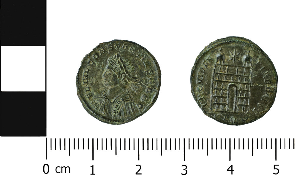 (MOL.208.75.270 Obverse: Constantinus II, Reverse: Camp Gate, Minted in Trier)