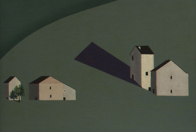 César Domela  Paysage n.1 (Paesaggio n.1) , 1922 Olio su cartone telato 45 x 62 cm Acquisto 2002