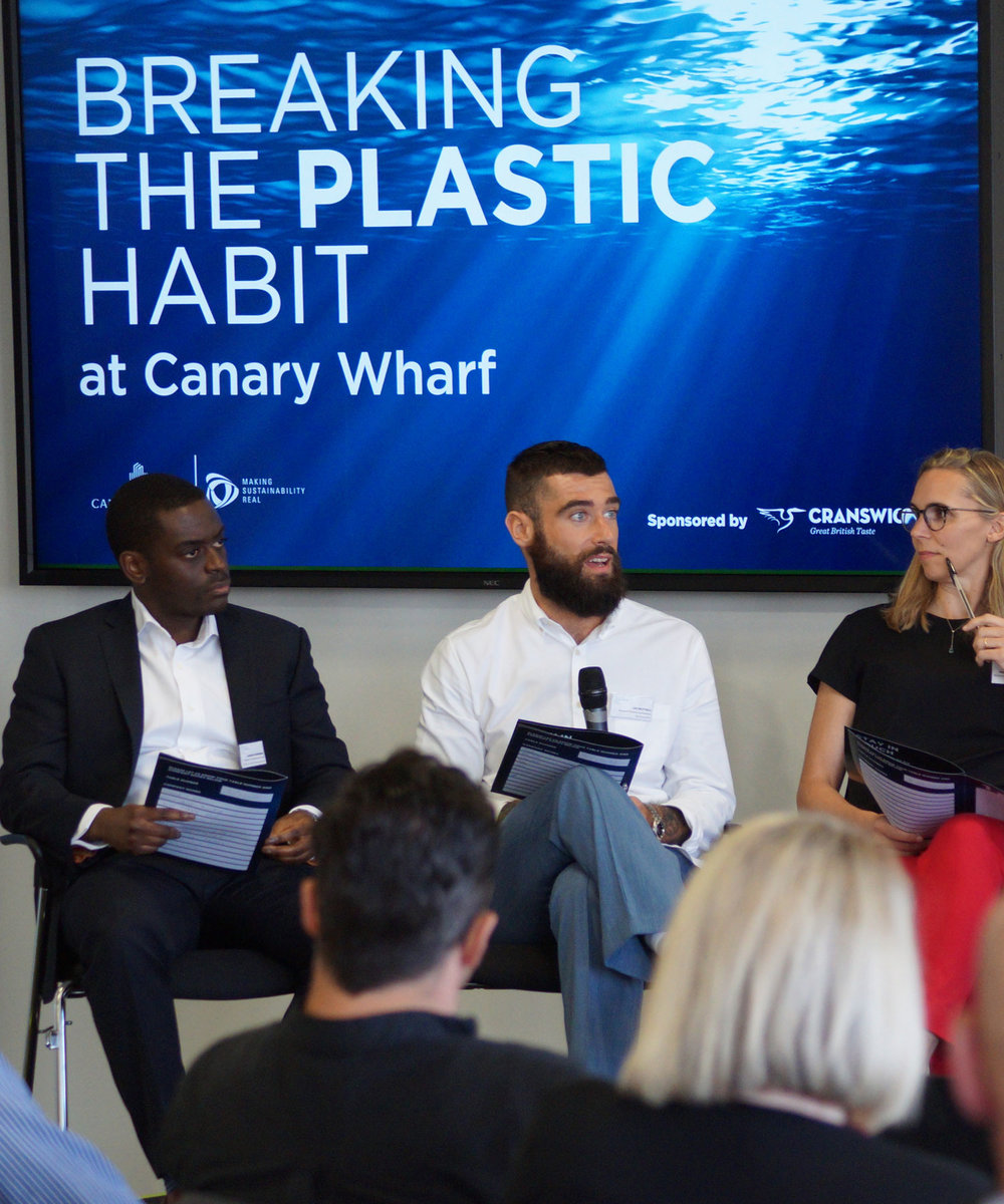 - The programme launched with a cross-sector panel debate on World Environment Day, June 2018. The debate engaged multiple industries to understand the common issues with single-use plastic. The event focused on how we, as a 'Micro City,' can influence and drive impactful change to create a model that commercial centres, business and communities can follow globally.