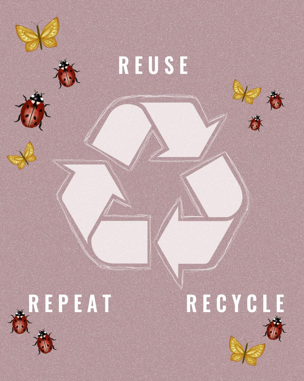 återvinna och återanvända- vi lär dig skillnaden -