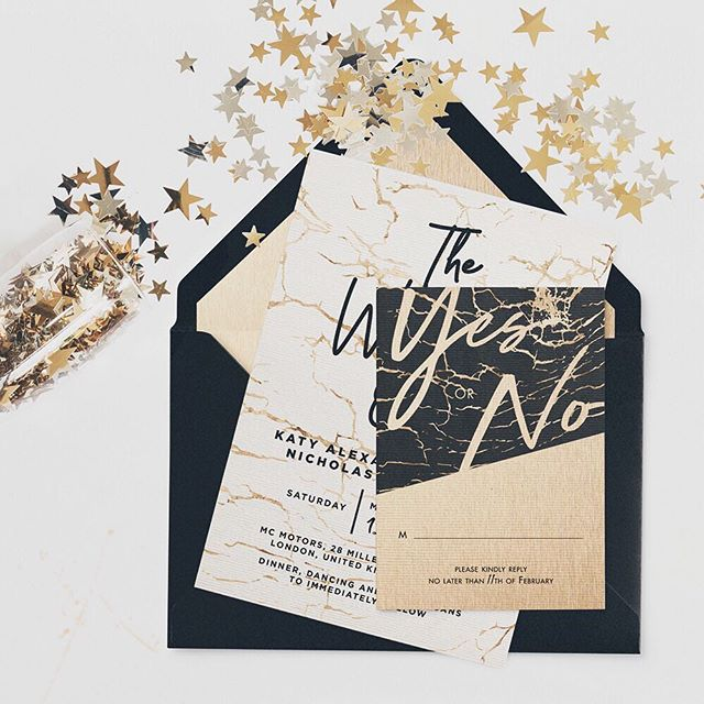 OoOoOo! Shiny! What's new in stationery for 2019? Anything you want! Like these yet-to-be-owned rose gold foil invites. An editors pick in the latest issue of @rocknrollbride ❤️ So pretty 😍 #antibridetribe #rocknrollbride #wedding #engaged #weddinginvitations #rosegold #alternativebride #invites #stationery
