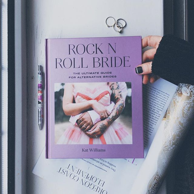 Such a stunning book came through the mail slot today! @rocknrollbride has done an amazing job putting this together. It really does have anything you could want, or need to know, when planning a wedding that's true to you. ❤️ Engaged? Pick this up immediately!! Or you know, just cause... ☺️😉 #wedding #rocknrollbride #antibridetribe #alternativebride #weddingplanning #weddingstationery #engaged #weddinginvitations
