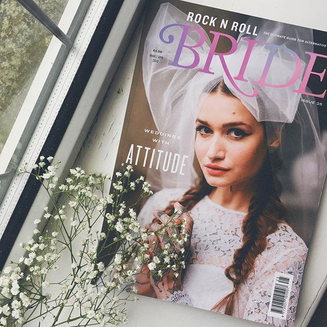 I don't think I will ever get over the covers for @rocknrollbride. It's an absolute amazing magazine (whether you're engaged, married or not) but I would buy it for the covers alone 😍 And an added bonus? Our new ad is in this one too! #rocknrollbride #antibridetribe #bohobride #alternativebride #engaged #wedding #weddingstationery #invitations #stationery