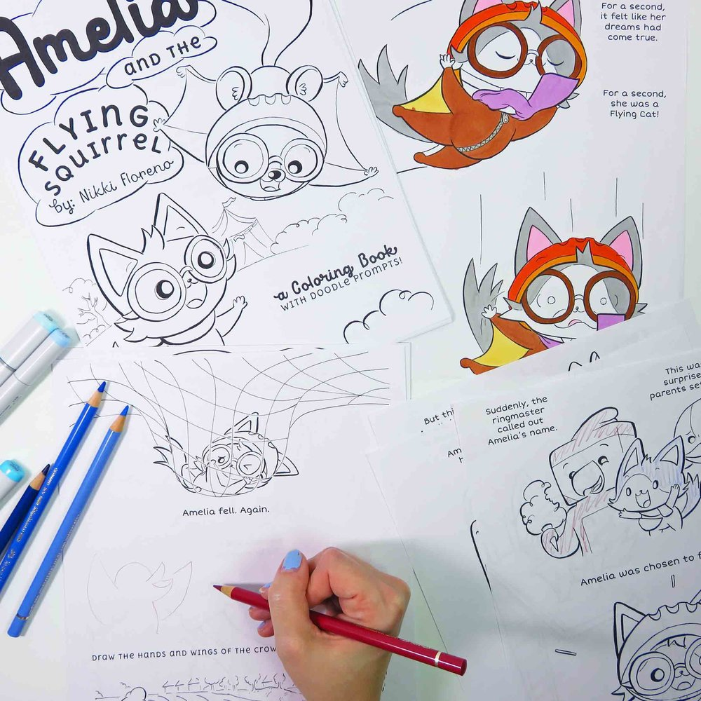 Coloring book pages   Extend story time with this extra hidden chapter of Amelia the Flying Cat! (Full coloring book in ___)