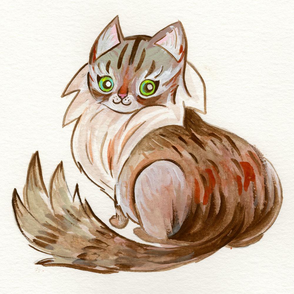 Acryla-Gouache,  9 x 12 watercolor paper