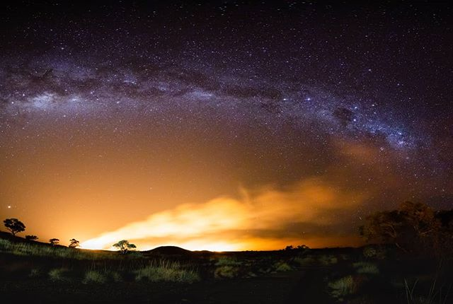 Australian Bush Road Trip: A massive bushfire approaching our campsite. This is a 15second exposure panorama. All in camera, no compositing. · · · · · · · · · #firefighter #fire #desertliving #travelphotography #nightlife #night #desert #nightingale #australianshepherd #deserts #stars #australia #starsign #nightmare #travelgram #desertlife #photography #desertphotography #zodiac #instatravel #nightphotography #travel #australiagram #travelling #starsigns #aussie #bvsquad #westaustralia