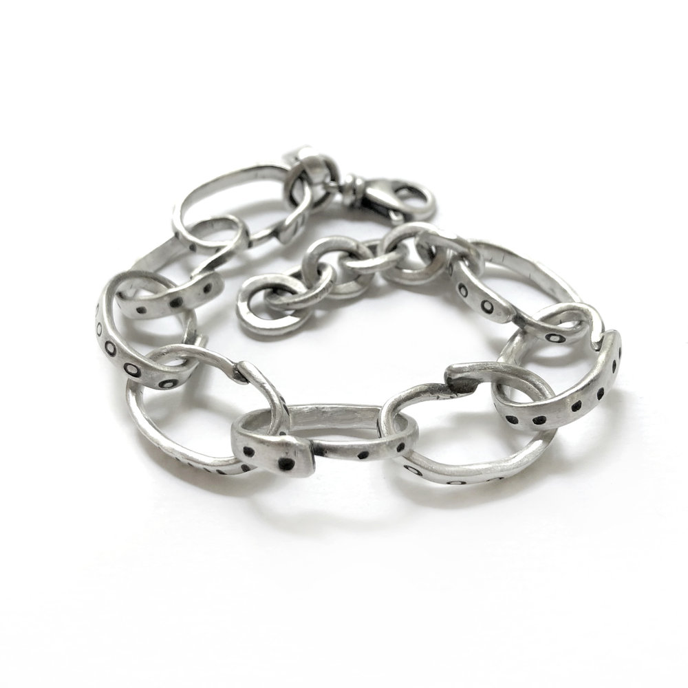 sterling silver fork tine bracelet