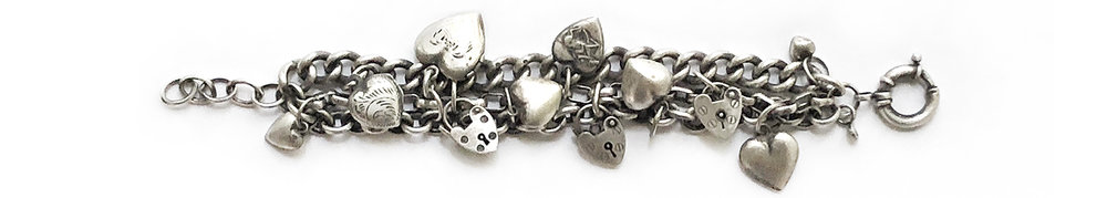 sterling vintage puffy hearts charms bracelet.jpg