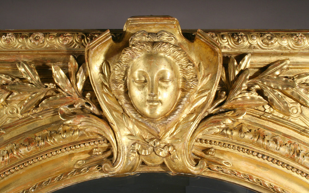 Detail of gilded sculptural element after treatment