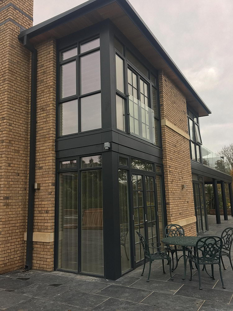 - Elford installed NorDan high performing triple glazed alu-clad windows and doors, paired with Shueco bi-folding doors, clear glass juliet balcony, and incorporated a design fully accessible for wheelchair access throughout.