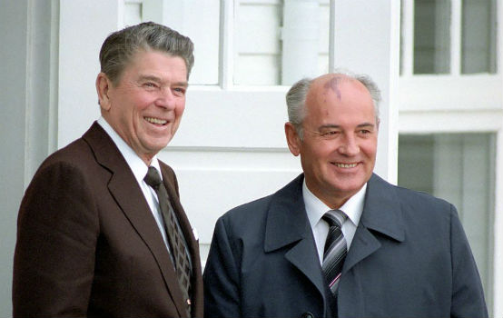 President Reagan and Secretary Gorbachev at the Reykjavik Summit