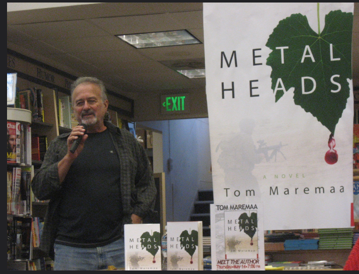 At Books Inc doing a reading and book signing of Metal Heads