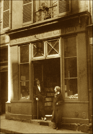 James Joyce & Sylvia Beach - The Most Famous Bookstore in the World: Shakespeare and Company, 1922. Note the scruffy tennis shoes…
