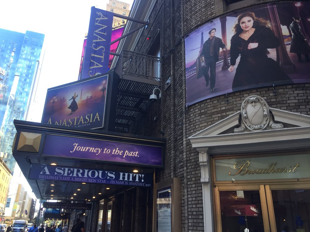 Anastasia Marquee at the Broadhurst Theater — September 22nd, 201 7