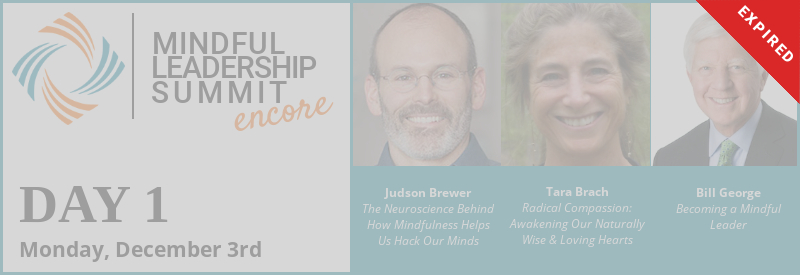 Day 1 - Encore of 5th Mindful Leadership Summit Available Monday, December 3 7AM EST Expires Thursday, December 6 7AM EST