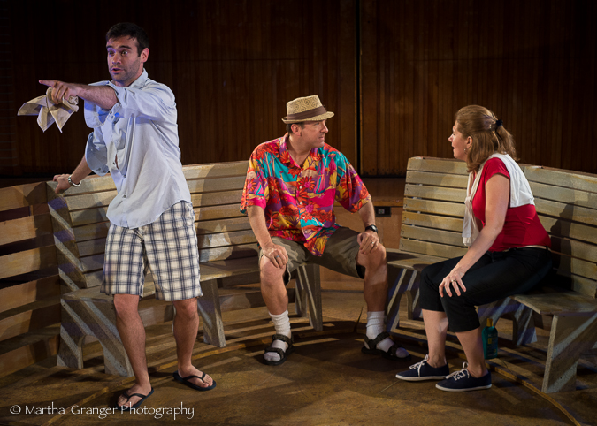 """O Captain, My Captain"" - Mark Friedlander, Craig Waletzko, Joey Brenneman  (Photo: Martha Granger)"